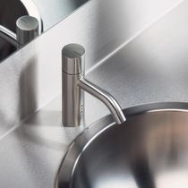 Washbasin mixer tap / brass / stainless steel / electronic