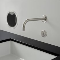 Washbasin mixer tap / built-in / brass / stainless steel