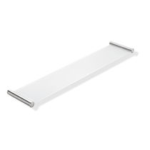 Wall-mounted shelf / contemporary / metal / glass
