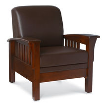 Wooden armchair / fabric / with removable cushion / commercial