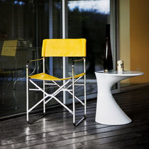 Contemporary chair / sled base / folding / with removable cover