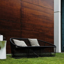Contemporary sofa / outdoor / steel / PVC