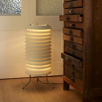 Floor-standing lamp / contemporary / steel / brass