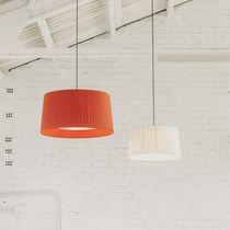 Pendant lamp / contemporary / fabric / methacrylate