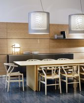 Pendant lamp / contemporary / polyester / LED