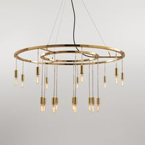 Pendant lamp / contemporary / brass / incandescent