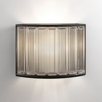 Contemporary wall light / glass / LED / curved