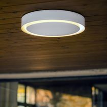 Contemporary ceiling light / round / metal / LED