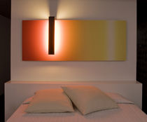 Contemporary wall light / metal / composite material / fluorescent