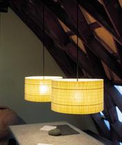 Pendant lamp / contemporary / wooden / outdoor