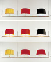 Pendant lamp / contemporary / metal / fabric