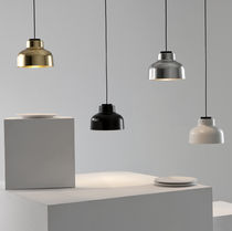 Pendant lamp / contemporary / aluminum / brass