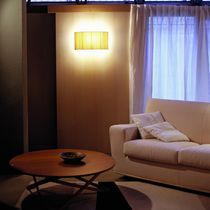 Contemporary wall light / metal / fabric / LED