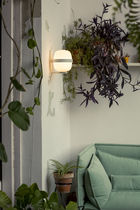 Contemporary wall light / metal / in opalescent glass / LED