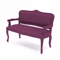 New Baroque design upholstered bench / abrasion-resistant rubber / with armrests / outdoor