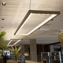 Hanging light fixture / LED / square / rectangular