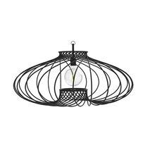 Pendant lamp / contemporary / powder-coated steel / handmade