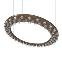Hanging light fixture / built-in / LED / round