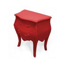 New Baroque design bedside table / elastomer / with drawer