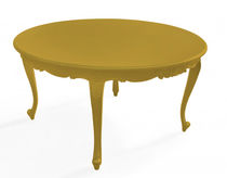 New Baroque design table / elastomer / round / outdoor