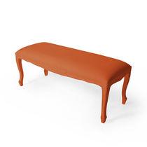 New Baroque design upholstered bench / abrasion-resistant rubber