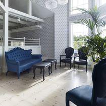 New Baroque design sofa / for outdoor use / polyurethane foam / 3-seater