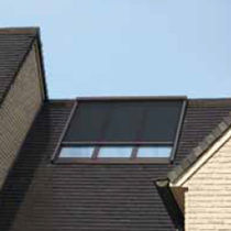 Roof window blinds / roller / fabric / outdoor