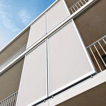 Sliding shutters / aluminum / for facades / louvered