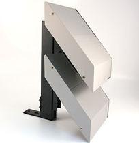 Aluminum cladding / gypsum plaster / perforated / ribbed