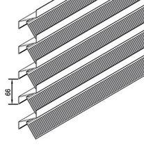 Aluminum cladding / alloy / ribbed / panel