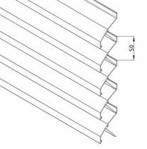 Aluminum cladding / ribbed / panel