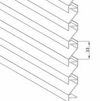Aluminum cladding / gypsum plaster / alloy / ribbed