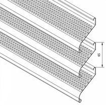 Aluminum cladding / gypsum plaster / galvanized steel / stainless steel