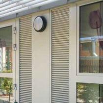 Aluminum ventilation grille / linear / window