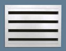 Aluminum ventilation grille / rectangular / acoustic