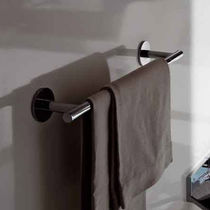 1-bar towel rack / wall-mounted / chrome / brass