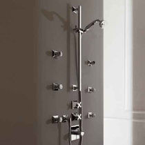 Wall-mounted shower set / contemporary / with hand shower / with hose