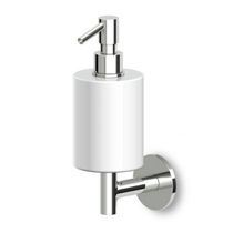 Wall-mounted soap dispenser / brass / chrome / commercial