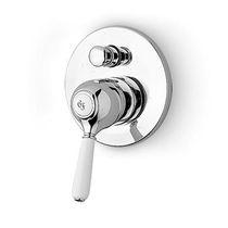 Bathtub mixer tap / shower / built-in / bronze