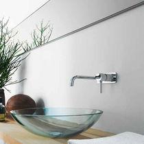 Washbasin mixer tap / built-in / chromed metal / brass