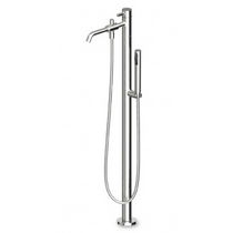 Shower mixer tap / for bathtubs / floor-mounted / chromed metal
