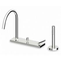 Bathtub mixer tap / deck-mounted / chrome / brass