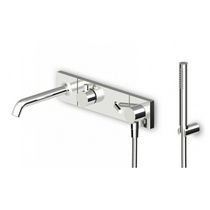 Shower mixer tap / for bathtubs / built-in / brass