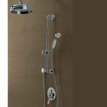 Bathtub mixer tap / shower / built-in / bronze
