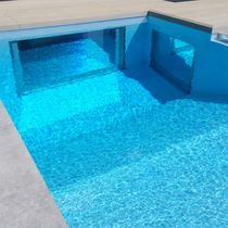 Construction panel / methacrylate / composite / for swimming pools