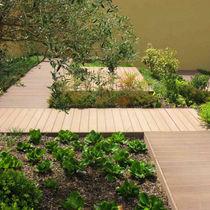 Wood-plastic composite flooring / residential / strip / matte