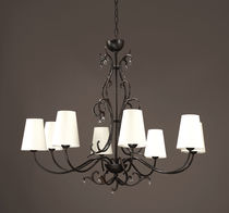 Traditional chandelier / bronze / fabric / incandescent