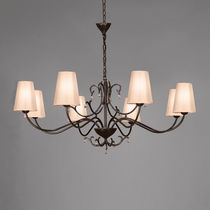 Traditional chandelier / fabric / bronze