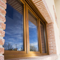 Casement window / fiberglass / PVC / triple-glazed