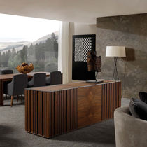 Contemporary sideboard / walnut